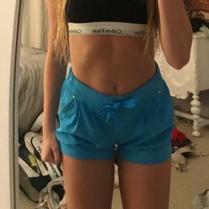Blue Lululemon shorts- size 4